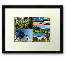 Collage from Portugal (Madeira) 3 - Travel Photography Framed Print