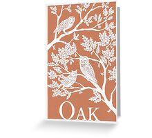 Brown Oak Paper Cutting Greeting Card