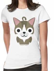 American Short Hair Cat Emoji Happy and Eager Look Womens Fitted T-Shirt