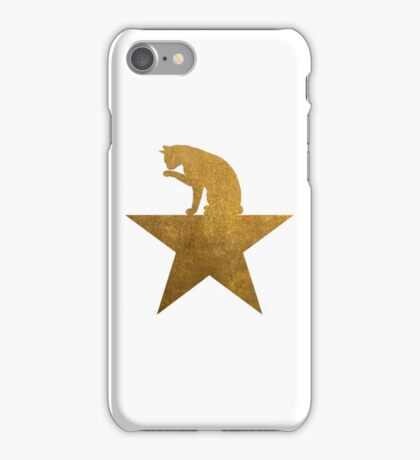 Gold Hamilcat Licking Super Cute Cats Design iPhone Case/Skin