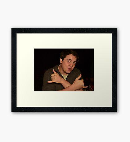 Matthew Supports Capitalism Framed Print