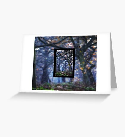 The Enchanted Forest Portrait with Single Border Greeting Card