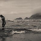 Girl at Cannon Beach by Tim Cowley