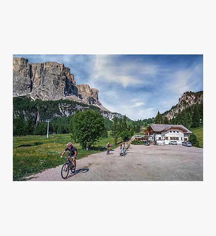 Downhill mountain biking Photographic Print