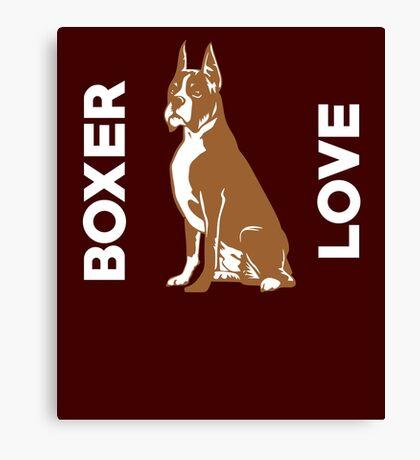 Boxer Love Cute Dog  Canvas Print