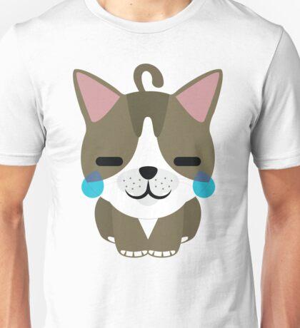 American Short Hair Cat Emoji Teary Eyes with Joy Face Unisex T-Shirt