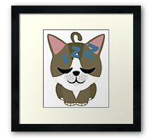 American Short Hair Cat Emoji Sleepy and ZZZ Face Framed Print