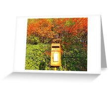 Mail Box And Autumn Leaves Greeting Card