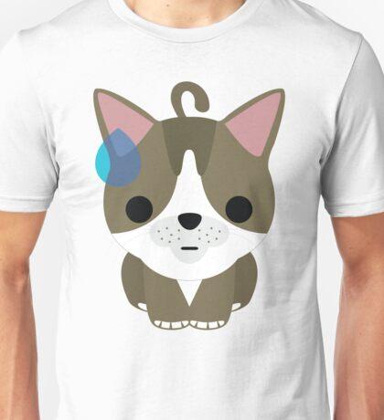 American Short Hair Cat Emoji Sweat and Speechless Look Unisex T-Shirt