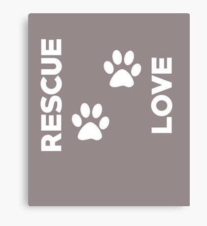 Rescue Love Cute  Canvas Print