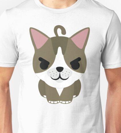 American Short Hair Cat Emoji Naughty and Cheeky Look Unisex T-Shirt