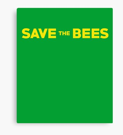 The Bees Black And Yellow Cute Insect Canvas Print