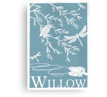 Blue Willow Paper Cutting Canvas Print