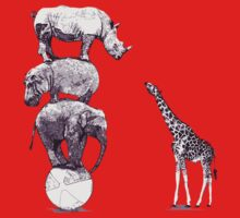 Animals One Piece - Short Sleeve