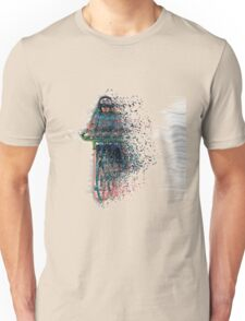 Digitally enhanced image Of a woman riding a bicycle  Unisex T-Shirt