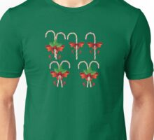 Candy Canes with Bow Unisex T-Shirt