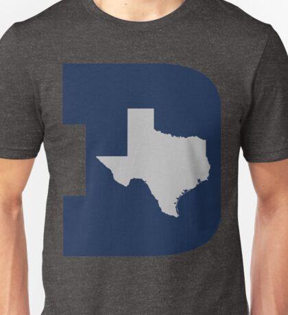 D Texas (Blue/Silver) Unisex T-Shirt