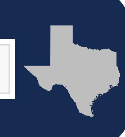 D Texas (Blue/Silver) Sticker