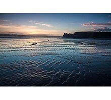 Sunset in Three Cliffs 1 Photographic Print