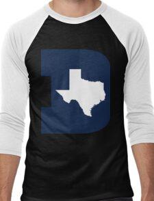 D Texas (Blue/White) Men's Baseball ¾ T-Shirt