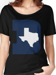 D Texas (Blue/White) Women's Relaxed Fit T-Shirt
