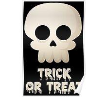 Skull Halloween Face Poster