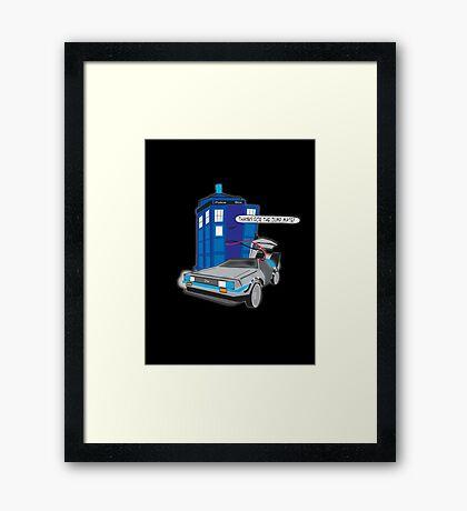 Time Travel Jump Start Framed Print