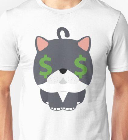 Exotic Cat Emoji Money Face Unisex T-Shirt