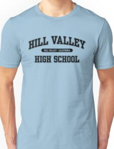 Hill Valley High School (Black) Unisex T-Shirt