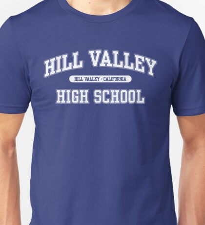 Hill Valley High School (White) Unisex T-Shirt