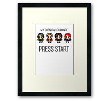 MCR - PRESS START Framed Print