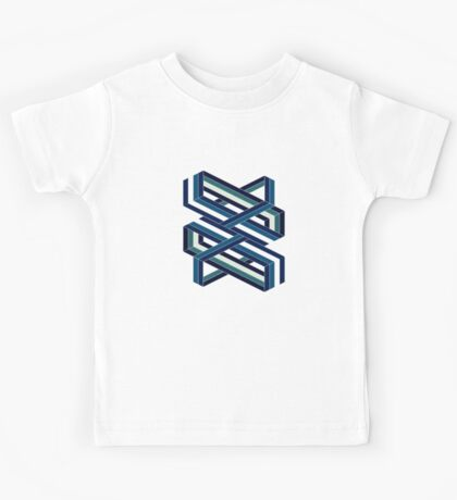 Isometric poetry - blue and green  Kids Tee