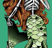 Skeletal Mermaid by erica-tattoos