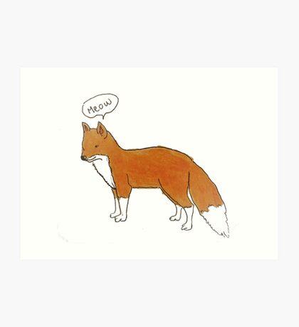 Cat-fox Art Print