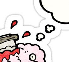 migraine cartoon Sticker