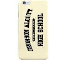 Bronson Alcott High School (Black) iPhone Case/Skin