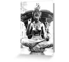 Statue 9 Greeting Card