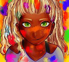 Little painter girl by FloorRanch