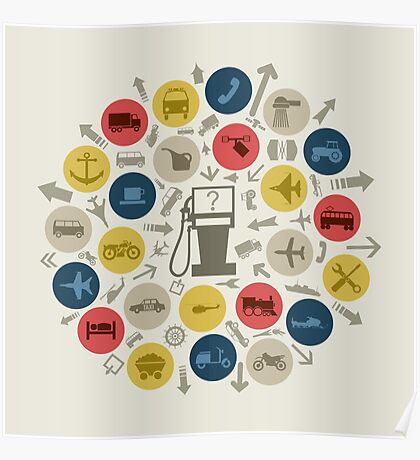 Abstraction transport Poster
