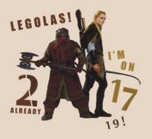 Gimli vs. Legolas by Larnacouer