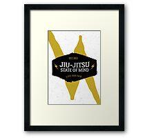 Jiu-jitsu state of mind I Framed Print