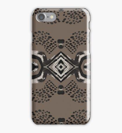 Inky Eyes - Mocha iPhone Case/Skin