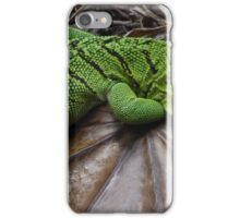 Green Monitor Lizard iPhone Case/Skin