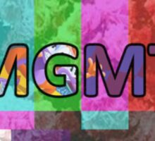 MGMT on TV Sticker