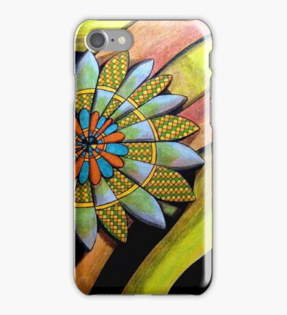 410 - FLORAL DESIGN 12 - DAVE EDWARDS - COLOURED PENCILS - 2014 iPhone Case/Skin