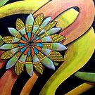 410 - FLORAL DESIGN 12 - DAVE EDWARDS - COLOURED PENCILS - 2014 by BLYTHART