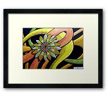 410 - FLORAL DESIGN 12 - DAVE EDWARDS - COLOURED PENCILS - 2014 Framed Print