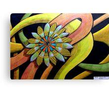 410 - FLORAL DESIGN 12 - DAVE EDWARDS - COLOURED PENCILS - 2014 Canvas Print