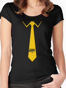 Lupin Central - Necktie Women's Fitted Scoop T-Shirt