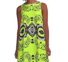Inky Eyes - Sour Apple A-Line Dress